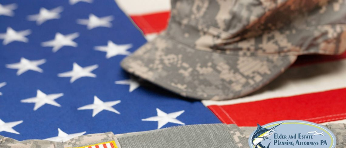 elder attorney - Flag with military hat and uniform