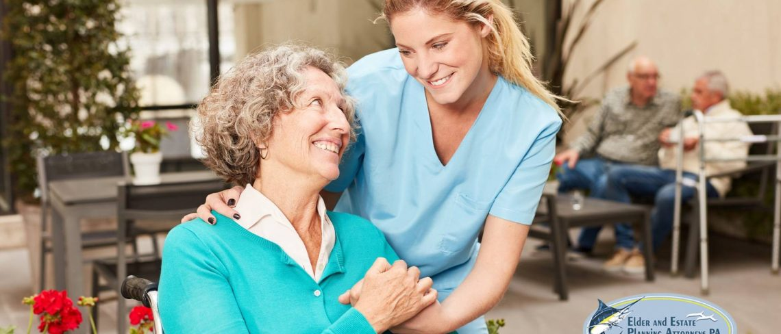 family law attorney west palm beach florida - Yong nurse with older woman in a wheelchair