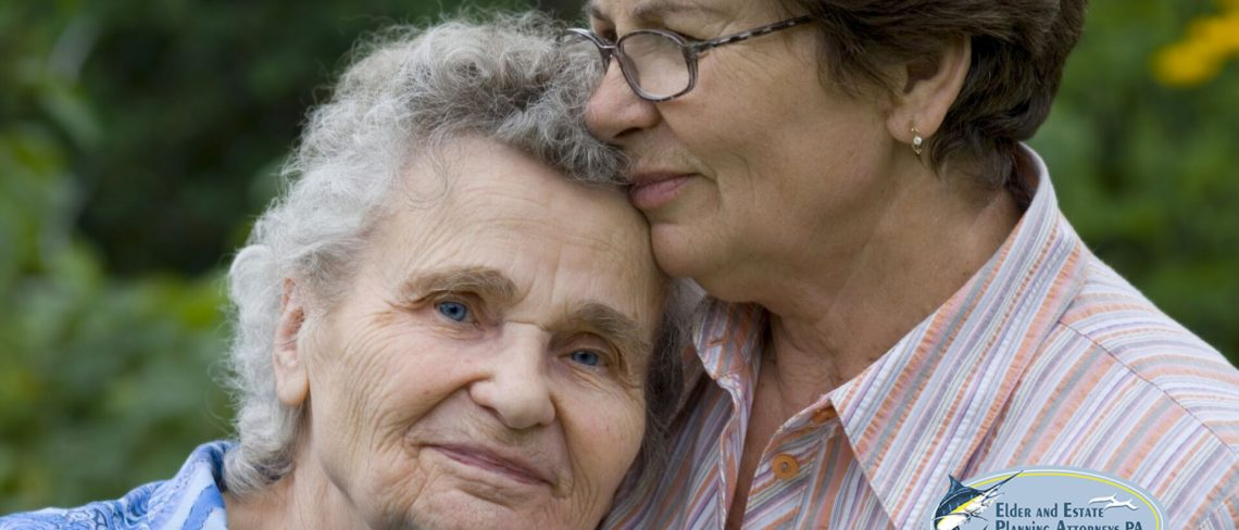 family law attorney west palm beach florida - Mature woman embracing an elderly lady